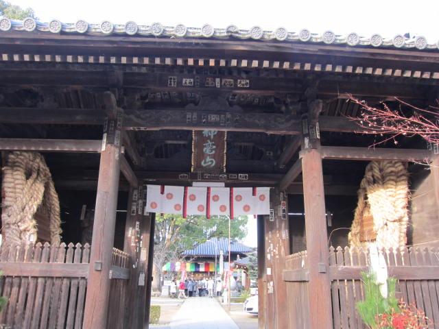 83番一宮寺山門と大草鞋.JPG