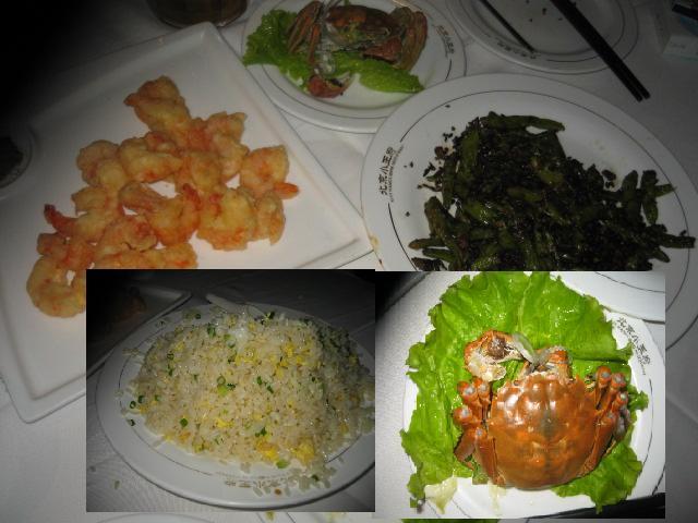 上海ガニとエビと豆炒め.JPG