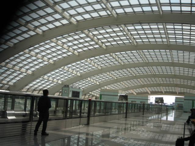 北京空港のドーム.JPG