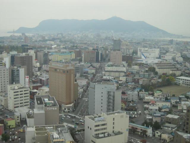2・五稜郭タワーから函館山.JPG