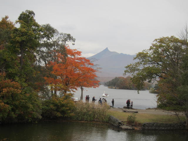 2・大沼国定公園紅葉と駒ヶ岳.JPG